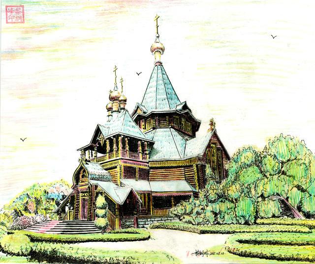 黎纲峰钢笔画:那些年 那座城市