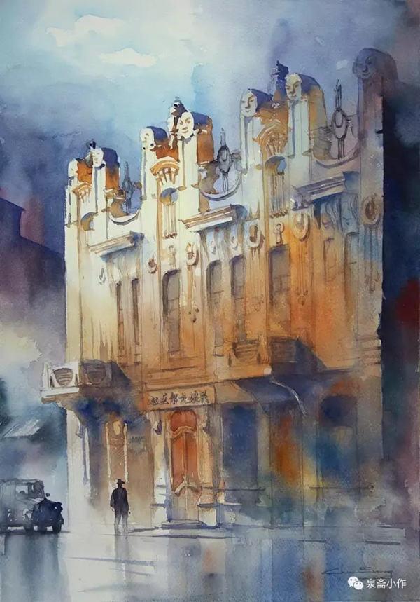 水色的咏叹:陈松《一条街与一座城》系列水彩作品