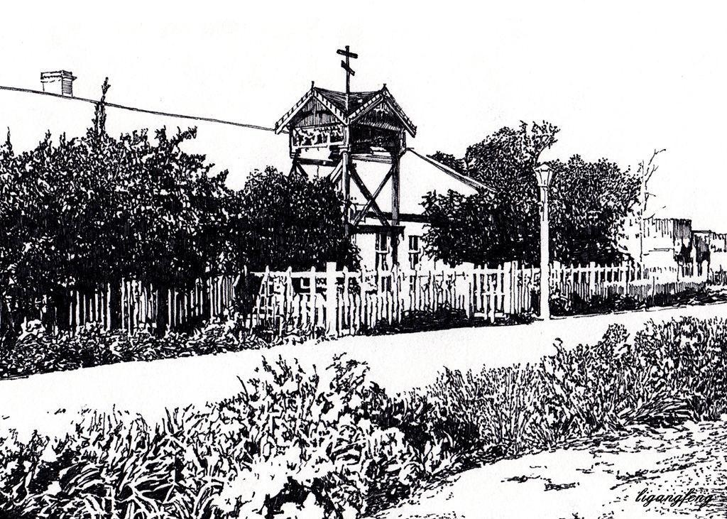 黎纲峰手绘:画忆消失得老教堂