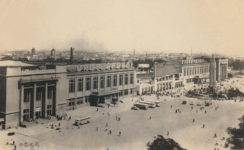1970年哈尔滨火车站站前广场