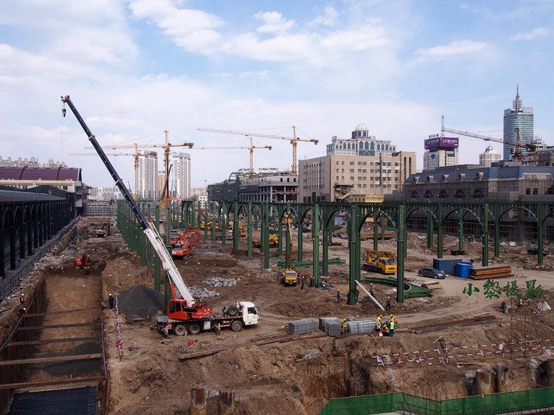 2018年哈尔滨火车站施工改造
